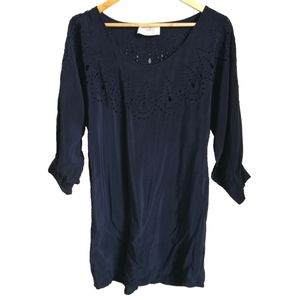 MADISON MARCUS Navy Blue Silky Mini Dress, size S